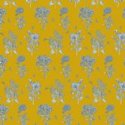 Inprint Chelsea Physic Garden - 4055 - Herbs - Mustard Yellow - 8953 Y60 - Cotton Fabric